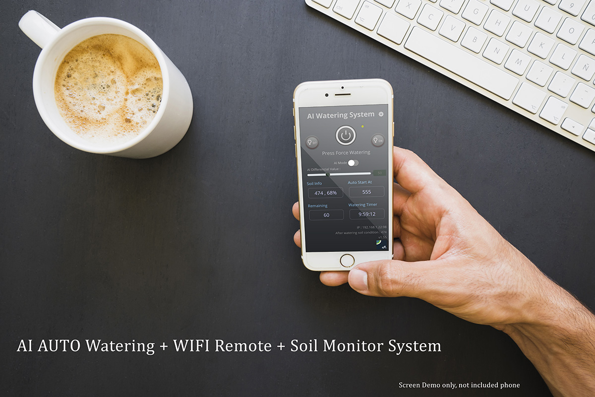 AI Smart Watering Controller plus IOT soil history records